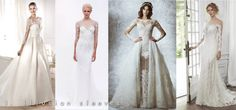 2015 wedding gown trends illusion sleeves