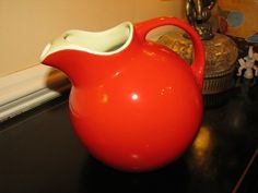 I love this bright Orange Ball #pitcher by Hall.