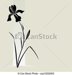 Vector - Vector iris flower. - stock illustration, royalty free illustrations, stock clip art icon, stock clipart icons, logo, line art, EPS picture, pictures, graphic, graphics, drawing, drawings, vector image, artwork, EPS vector art
