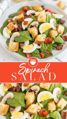 Could You Eat Pizza With Sort Two Diabetic Issues? Spinach Salad Is A Classic Thats Great Served Year Round. Its So Versatile And I Like To Load Mine Up With Bacon, Dried Cranberries, Homemade Croutons, And The Best Spinach Salad Dressing Around Side Salad Recipes, Spinach Salad Recipes, Summer Salad Recipes, Chicken Salad Recipes, Healthy Salad Recipes, Side Dish Recipes, Vegetarian Recipes, Croutons Maison, Best Vegetable Recipes
