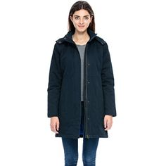 Lacle Womens Winter Fashion Outdoor Warm Classic Coat Jacket Navy Large >>> Be sure to check out this awesome product.