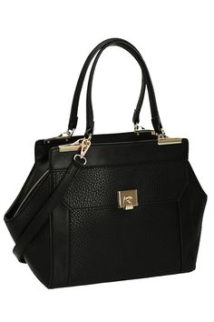 Melie Bianco Penelope Shoulder Bag in Black