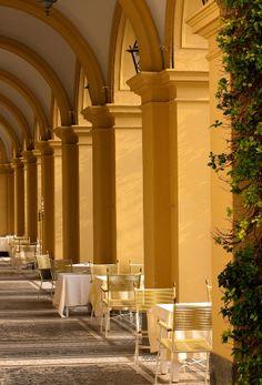 The Terrace of Villa Saporti on Lake Como