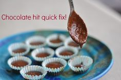 Chocolate Hit Quick Fix This recipe is so quick, so easy and so tasty. No excuses for you to reach for plastic and not so fantastic chocolate. Sweet Recipes, Whole Food Recipes, Dessert Recipes, Desserts, Healthy Sweet Treats, Healthy Food, Healthy Eating, Healthy Recipes, Sugar Free Baking