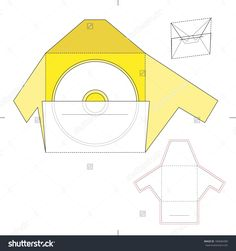 Dvd Media Envelope With Blueprint Layout Stock Vector Illustration 189684380 : Shutterstock