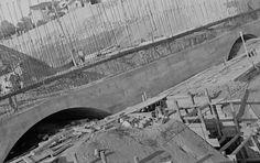 Av. 9 de julho -  Construção do Túnel - 1937