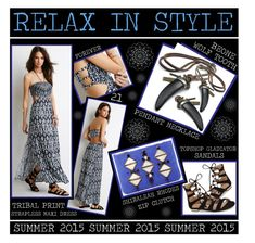 """Relax In Style"" by latoyacl ❤ liked on Polyvore featuring Forever 21, Topshop and Shiraleah"
