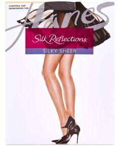 Hanes Silk Reflections Control Top Reinforced Toe Sheers 718 - Tan/Beige EF