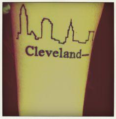 Cleveland Skyline #tattoo http://iheartcleveland.com/?cat=292