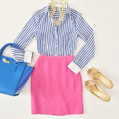 Outfit : pink and stripes