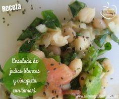 Ensalada de judías blancas y vinagreta con tamari Paso a paso #RecetaSaludable #legumbres