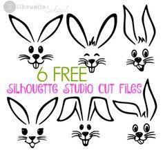 Free Easter Bunny Silhouette Studio Cut Files
