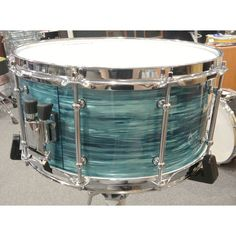 SuperNova 14 x 7 Helion Series Snare Drum, Turquoise Ripple. #supernova #snare #drum