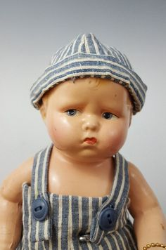 Antique Effanbee Baby Grupmy Composition Doll- 1920's All Original w/Wrist tag