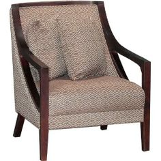 Atlanta Collection Diamond Upholstered Wood Chair A classically tailored silhouette, durable construction, and timeless appeal all enhance this piece's stylish and modern sensibility. Pillows Not Included. Wood Arm Chair, Stationary, Accent Chairs, Armchair, Furniture Design, Living Room, Diamond, Dining, Home Decor