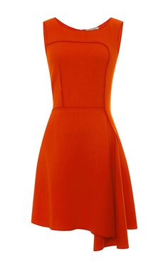 Asymmetric-Hem Wool-Crepe Dress by Nina Ricci Now Available on Moda Operandi