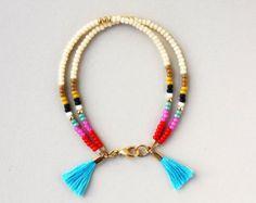 Turquoise Wrap Bracelet Friendship Bracelet with by feltlikepaper