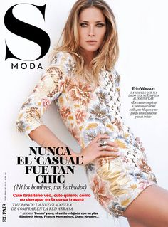 Erin Wasson is Casual Chic for S Modas June Cover Story, Shot by Eric Guillemain...