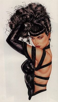 Bettie Page -I own this one signed by Bettie and Olivia