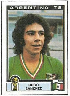 Hugo Sanchez of Mexico. 1978 World Cup Finals card.