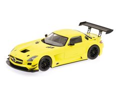 This Mercedes-Benz SLS AMG Street Diecast Model Car is Gold and features working wheels. It is made by Minichamps and is scale (approx. This model has a closed body shell - no opening features. Bugatti, Lamborghini, Ferrari, Mercedes Benz Sls Amg, Mercedes Benz Models, Rolls Royce, Mustang, Porsche, Diecast Model Cars