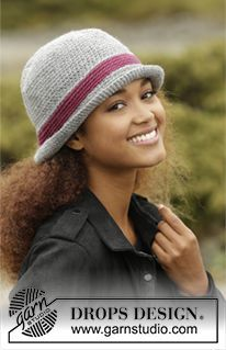 "Broadway - Crochet DROPS hat in ""Alaska"". - Free pattern by DROPS Design"