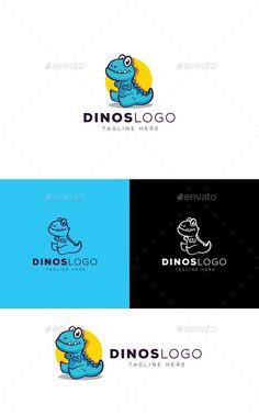 Dinosaur Logo - Animals Logo Templates Logo Design Template, Logo Templates, Portfolio Logo, Ai Illustrator, Best Logo Design, Animal Logo, Cool Logo, Illustration, Blog