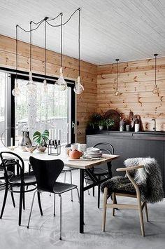 A Gorgeous Scandinavian Style Home in Finland (Gravity Home) Living Room Scandinavian, Modern Scandinavian Interior, Scandinavian Style Home, Scandinavian Windows, Modern Wooden House, Wooden Home, Gravity Home, Wood Interior Design, Wood Interiors