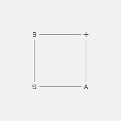 B+SA Contemporary monogram by British freelance logo designer Richard Baird - richardbaird.com