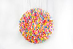 Artist Kevin Champeny designed this unusual chandelier made of thousands of hand-cast acrylic gummy bears. Saatchi Gallery - Google+