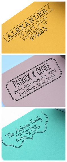 personalized self inking stamp. Great gift!