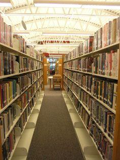 Newly organized Fiction area.