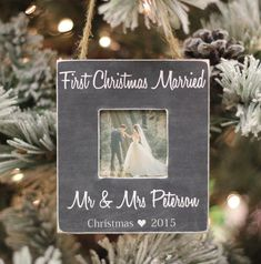 Christmas Ornament First Christmas Married by PhotoPhilosophyShop