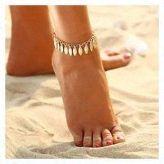 Fashion Summer Anklets Women Gold Link Chain Lady Anklet Beach Foot Jewelry Gift for sale online Jewelry Trends, Boho Jewelry, Fine Jewelry, Silver Jewelry, Trendy Jewelry, Luxury Jewelry, Jewelery, Jewelry Accessories, Ankle Bracelets Gold