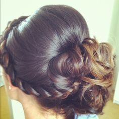 Curly bun, Hump, braid? or some contrast from smooth hair