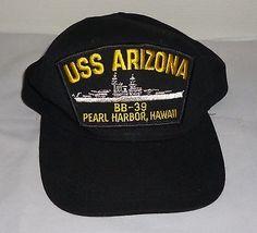 USS Arizona BB-39 Pearl Harbor Hawaii Baseball Cap Hat