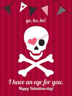 4 imprimables sur le thème des pirates pour la Saint Valentin...