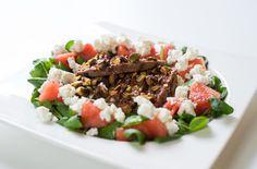 Spiced Lamb Salad Recipe on Lamb Recipes, Salad Recipes, Pasta Salad, Cobb Salad, Watermelon And Feta, Diet Inspiration, Coriander Seeds, Spice Mixes, Food 52