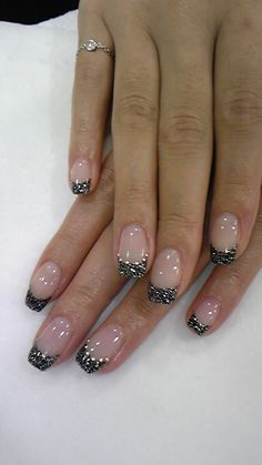 nails so simple and cute Gel Nail Art Designs, French Nail Designs, Colorful Nail Designs, Finger Nail Art, Toe Nail Art, Hot Nails, Hair And Nails, Great Nails, French Tip Nails