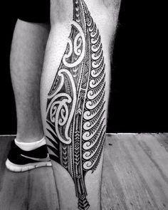 tatuajes para pantorrillas de hombres geniales