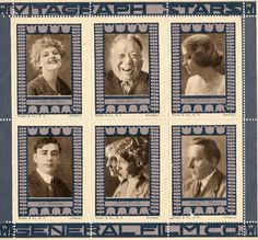 Silent Film Performers -Lillian Walker, John Bunny, Clara Kimball Young, Leo Delaney, Flora Finch, Harry T. Morey