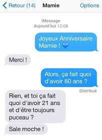 20 Conversations les plus hilarantes : Pires Calshs et SMS drôles Cute Tweets, How To Speak French, French Quotes, Funny Messages, Funny Pins, Funny Texts, Dumb And Dumber, I Laughed, Haha