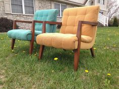A personal favorite from my Etsy shop https://www.etsy.com/listing/277445096/midcentury-scoop-chair-pair-in-turquoise