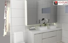 Banheiro Suíte do Casal - duas cubas