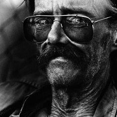 "Lee Jeffries photograph of homeless ""Vietnam Vet. Las Vegas"""