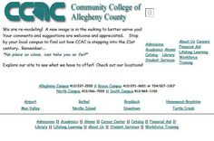 1998 was a...transitional year for the #CCAC website. #TBT #ThrowbackThursday #ComicSans