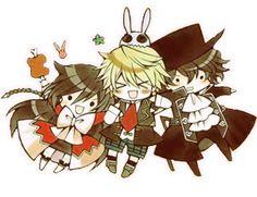 Pandora Hearts - Alice, Oz, and Raven