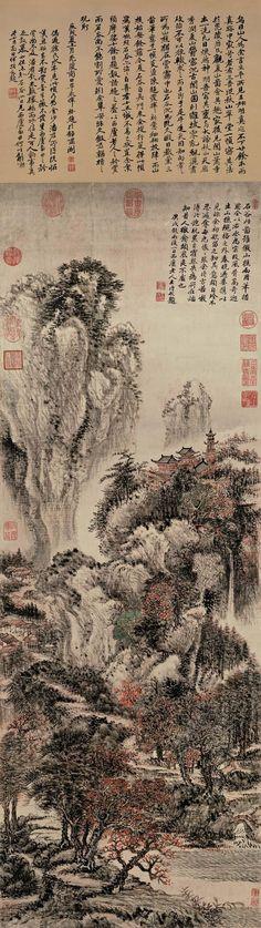 Wang Hui(王翬) , 溪山红树图 台北故宫