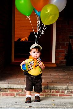 @Marian Cacciatore's son dressed up as Russell from the movie Up! Photo taken by @Mara Dean.