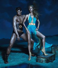 Kate Moss, Daria Werbowy and Joan Smalls Are Divine Beauties for Versace's Spring 2013 Campaign by Mert & Marcus | Fashion Gone Rogue: The Latest in Editorials and Campaigns